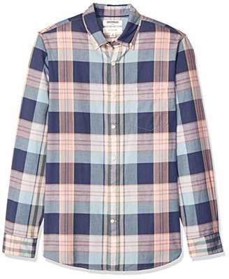Goodthreads Men's Standard Slim-Fit Long-Sleeve Madras Shirt,XX-Large Tall
