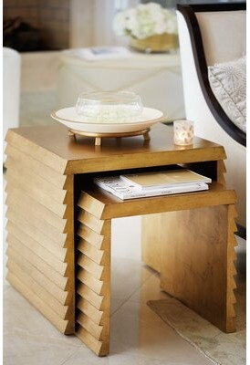Bernhardt Jet Set Solid Wood Sled Nesting Tables