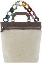 Anya Hindmarch Orsett paperchain nubuck and shearling shoulder bag