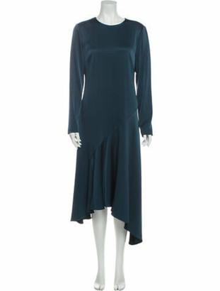 Grey By Jason Wu Crew Neck Midi Length Dress Grey