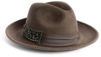 Vivien Sheriff Embellished Trilby Hat