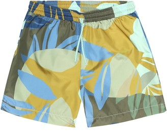 Il Gufo Printed swim trunks