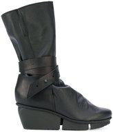 Trippen buckled platform boots