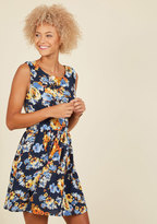 Ixia Next Up, Nashville A-Line Dress in Navy Blossoms