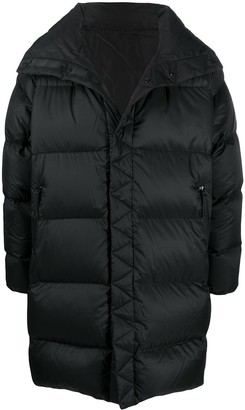 White Mountaineering Funnel-Neck Padded Coat