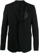 Les Hommes zip panel blazer