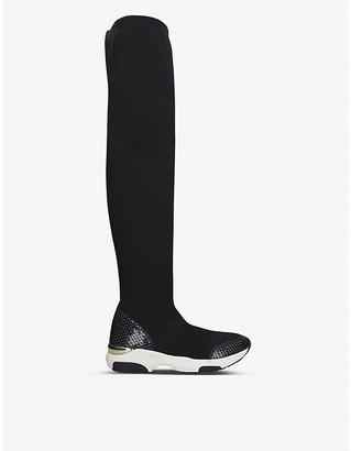 Carvela Lethal knee-high sock trainers