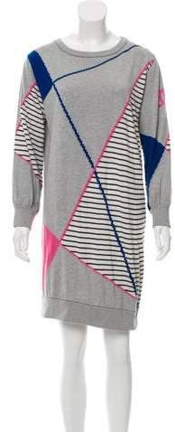 Chanel Patterned Sweater Dress