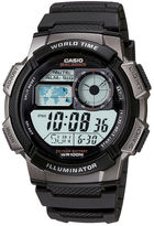 Casio Illuminator Mens Black/Gray Bezel Digital Sport Watch AE1000W-1BV