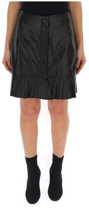Ganni Lambskin Mini Skirt