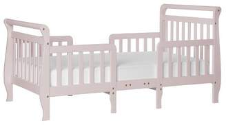 Dream On Me Wood Emma 3-in-1 Convertible Toddler bed in Blush Pink