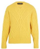 Neil Barrett Crew-neck cable-knit wool sweater