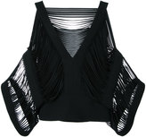 Tom Ford fringed sleeves top