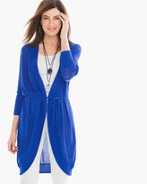 Chico's Belted Rib-Placket Cardigan