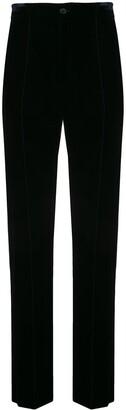 tailored velvet trousers