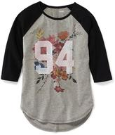 Old Navy Graphic Baseball Tee for Girls