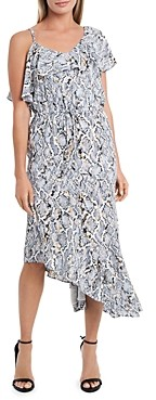 Vince Camuto Printed Asymmetric Hem Dress