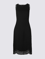 M&S Collection Cutwork Skater Midi Dress