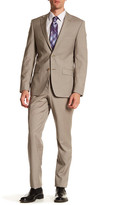 Simon Spurr Brown Checked Two Button Notch Lapel Wool Regular Fit Suit