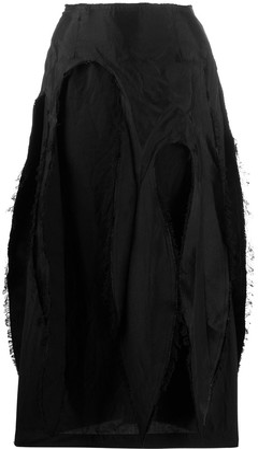 Comme des Garcons Distressed Pencil Skirt