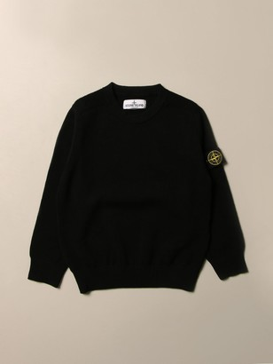 Stone Island Junior Pullover In Wool