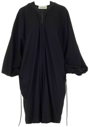 Lanvin V Neck Puff Sleeve Dress