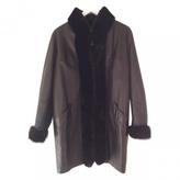 Saint Laurent Brown Leather Coat