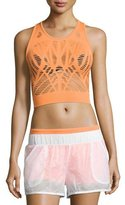 Alo Yoga Vixen Cutout Fitted Crop Tank, Orange