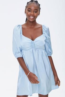 Forever 21 Sweetheart Peasant-Sleeve Dress