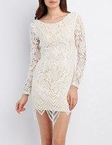 Charlotte Russe Eyelash Lace Scoop Neck Bodycon Dress