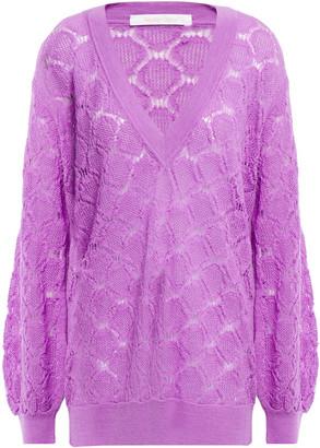 See by Chloe Pointelle-knit Alpaca-blend Sweater
