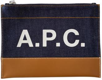 A.P.C. Blue Denim - Jeans Clutch bags