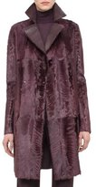 Akris Reversible Shearling Fur Coat, Camito