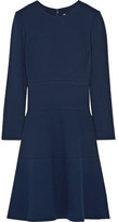 Lela Rose Wool-blend Crepe Dress - Navy