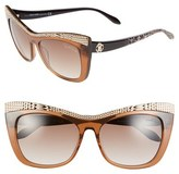 Roberto Cavalli Women's 'Muscida' 56Mm Cat Eye Sunglasses - Brown/ Rose Gold/ Leopard
