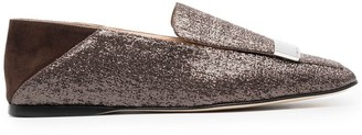 Sergio Rossi Metalic-Thread Loafers