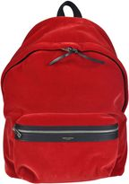 Saint Laurent City Velour Backpack