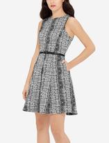 The Limited Eva Longoria Pleated Fit & Flare Dress