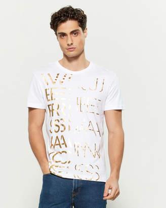 Versace Broken Foil Logo Short Sleeve Tee