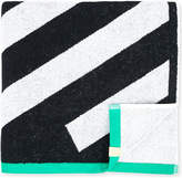 Monreal London Zig-zag patterned cotton towel