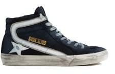 Golden Goose Deluxe Brand Men's Blue Cotton Hi Top Sneakers.