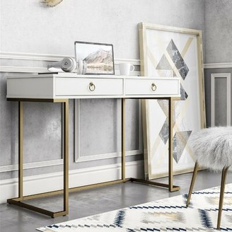 CosmoLiving by Cosmopolitan Camila Desk Color: White