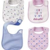 Carter's Baby Girl Teething Bibs (One Size, Purple) by