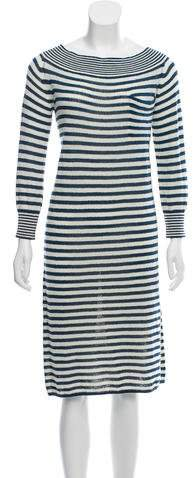 Louis Vuitton Striped Off-The-Shoulder Dress w/ Tags