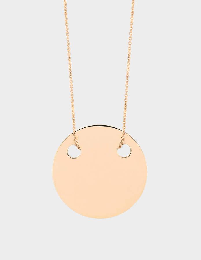 ginette_ny Mini Disc 18-karat rose gold necklace