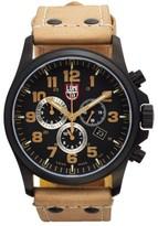 Luminox Men's 'Land - Atacama Field' Chronograph Leather Strap Watch, 45Mm