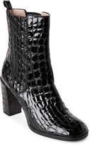Aperlaï Croc Embossed Heeled Chelsea Boots