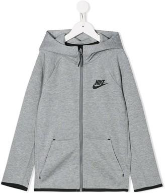 Nike Kids Logo-Print Zip-Up Hoodie