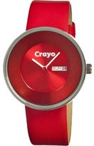 Crayo Watches Button Women's Watch Primary Color: Red