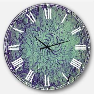 Design Art Designart Digital Art Oversized Round Metal Wall Clock